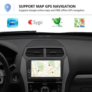 Image 3 - Podofo אנדרואיד רכב נגן מולטימדיה 2 דין 7 מגע מסך רכב רדיו אודיו Bluetooth MP5 נגן GPS מראה קישור WIFI FM רדיו