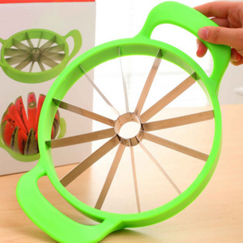 Free Shipping +Hot sell cut the melon artifact/stainless steel fruit to nuclear division slicer Watermelon is cut