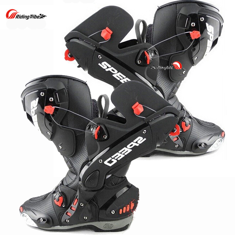 Split Mens Motorcycle Boots Racing Speed Motorbike shoes bota motocross Boot Men dirt bike Cycling motorboats ...