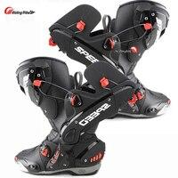 Split Men's Motorcycle Boots Racing Speed Motorbike shoes bota motocross Boot Men dirt bike Cycling motorboats