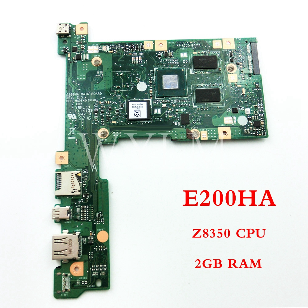 E200HA Z8350CPU 2GB RAM mainboard For ASUS E200H E200HA Laptop motherboard Tested Working 90NL0070-R00041 free shipping free shipping k42dr mainboard rev2 3 for asus a42d k42d k42dy k42dr laptop motherboard tested working