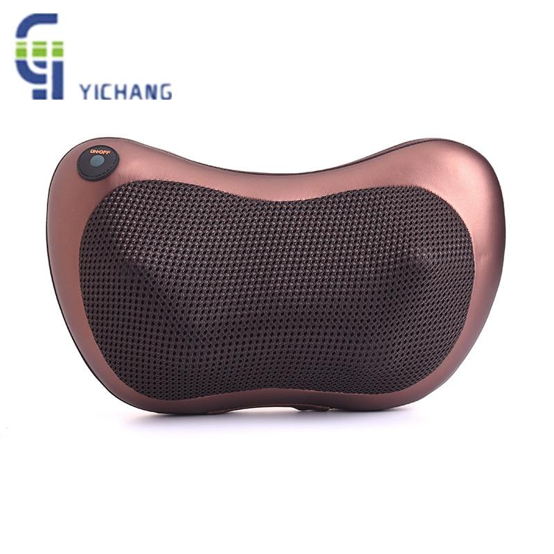 все цены на Massage Pillow Home Car Dual-use Multifunction Massager Auto Massage Pillow Cervical Lumbar Leg Neck Massager Infrared Heating онлайн