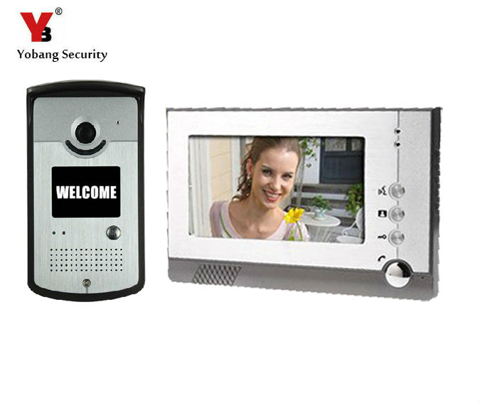 Yobang Security 7 LCD Video CMOS Rainproof Door Camera Peephole Night Vision Doorbell Building Security Door Phone