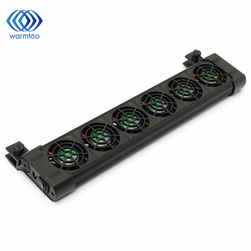New Cooling Coldwind 6 Fans Aquarium Chillers For 240L DV 12V Fish Tanks Low Power Consumption Cooling Easily 411 x 48 x 118mm дополнительный стоп сигнал brand new 48 12v 38 x 7