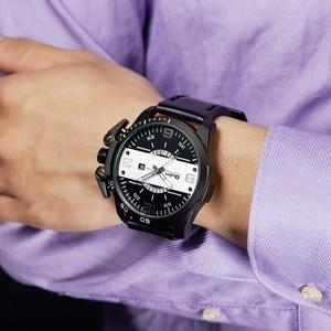 Image 2 - Oulm 새로운 디자인 남자 시계 럭셔리 브랜드 캐주얼 가죽 손목 시계 빅 사이즈 스포츠 남성 쿼츠 시계 relogio masculino
