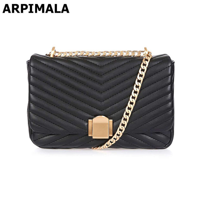 Arpimala Luxury Designer Women Handbags Quilted Leather Evening Bags Chain Cross Body Bag Messenger