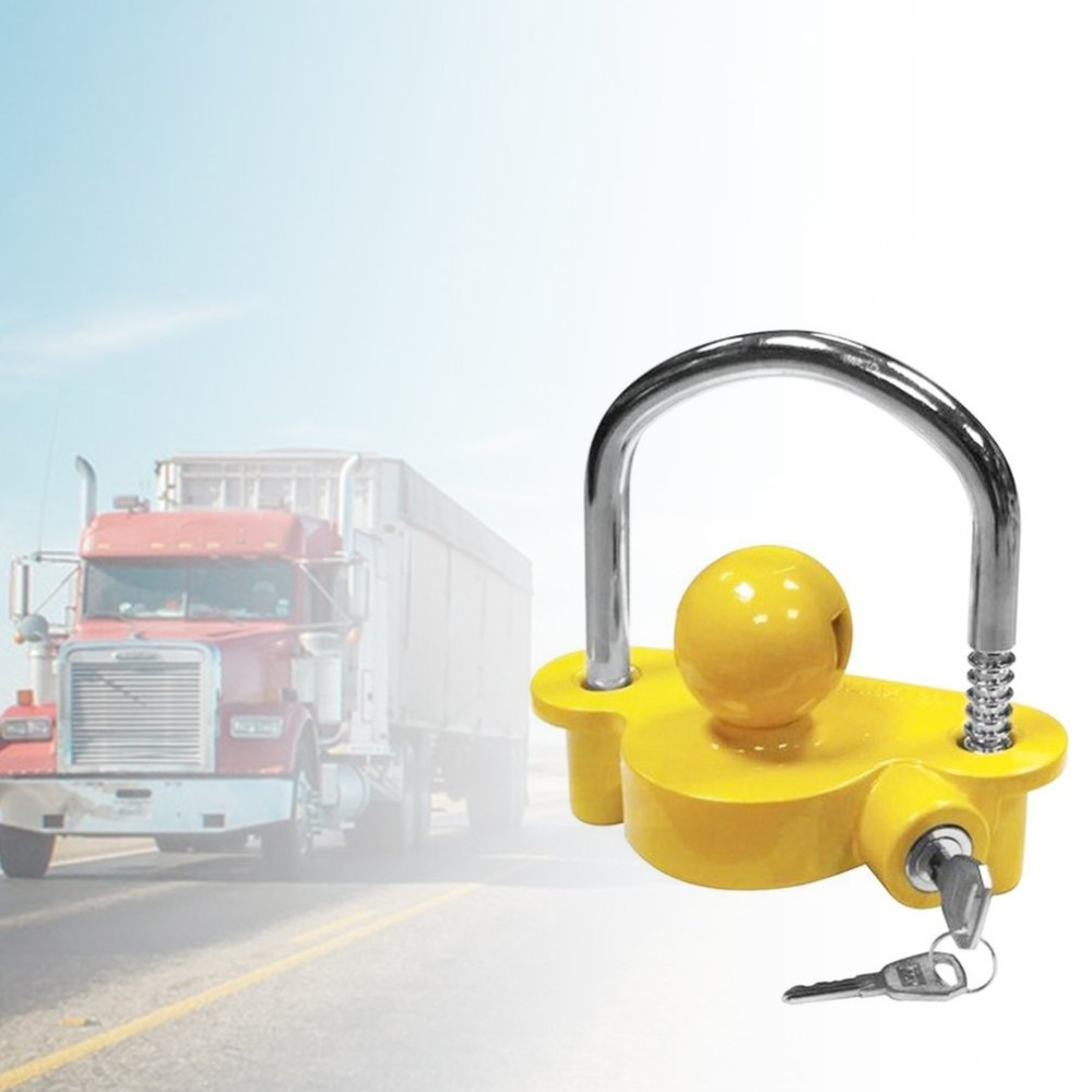 Universal Anti-Theft Lock Hitch Coupling Lock Trailer Parts Tow Ball Caravan Camping Anti Theft Trailer Accessories(China)