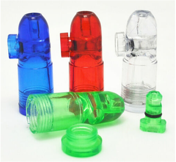 US $7 92 11% OFF|5 PCS/Lot Portable Brand New Acrylic Snuff Dispenser  Snorter Rocket Bullet Shape Bullet shaped Snuff Bottle Free Shipping-in  Tool