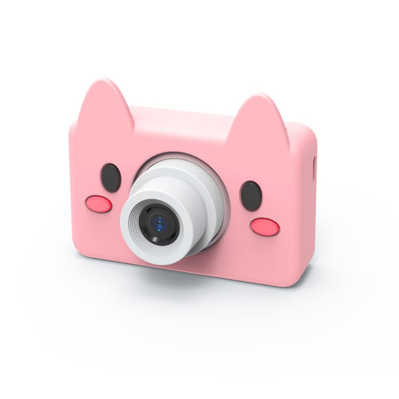 High Quality New Cartoon Animals Kid Digital Camera 2 Inch Screen HD 8MP Silicone Soft Cover 32g Micro SD Card Brithday Gifts