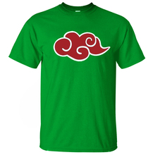 Naruto Akatsuki Red Cloud T Shirt  100% Cotton