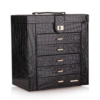 Black Large jewelry Box Display Organizer