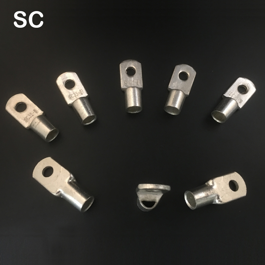 Cable Lug 20Pcs  JG35-8 35mm2 Wire Copper Connecting Terminal Hole 8mm