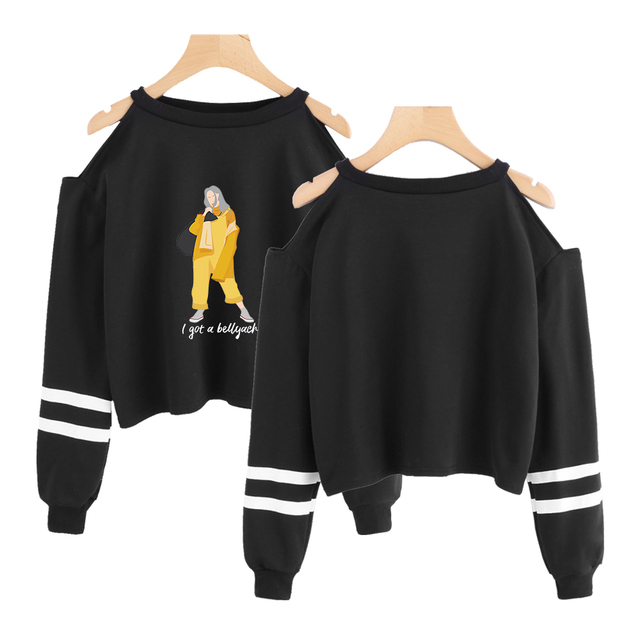 BILLIE EILISH CROPPED SWEATSHIRT (2 VARIAN)