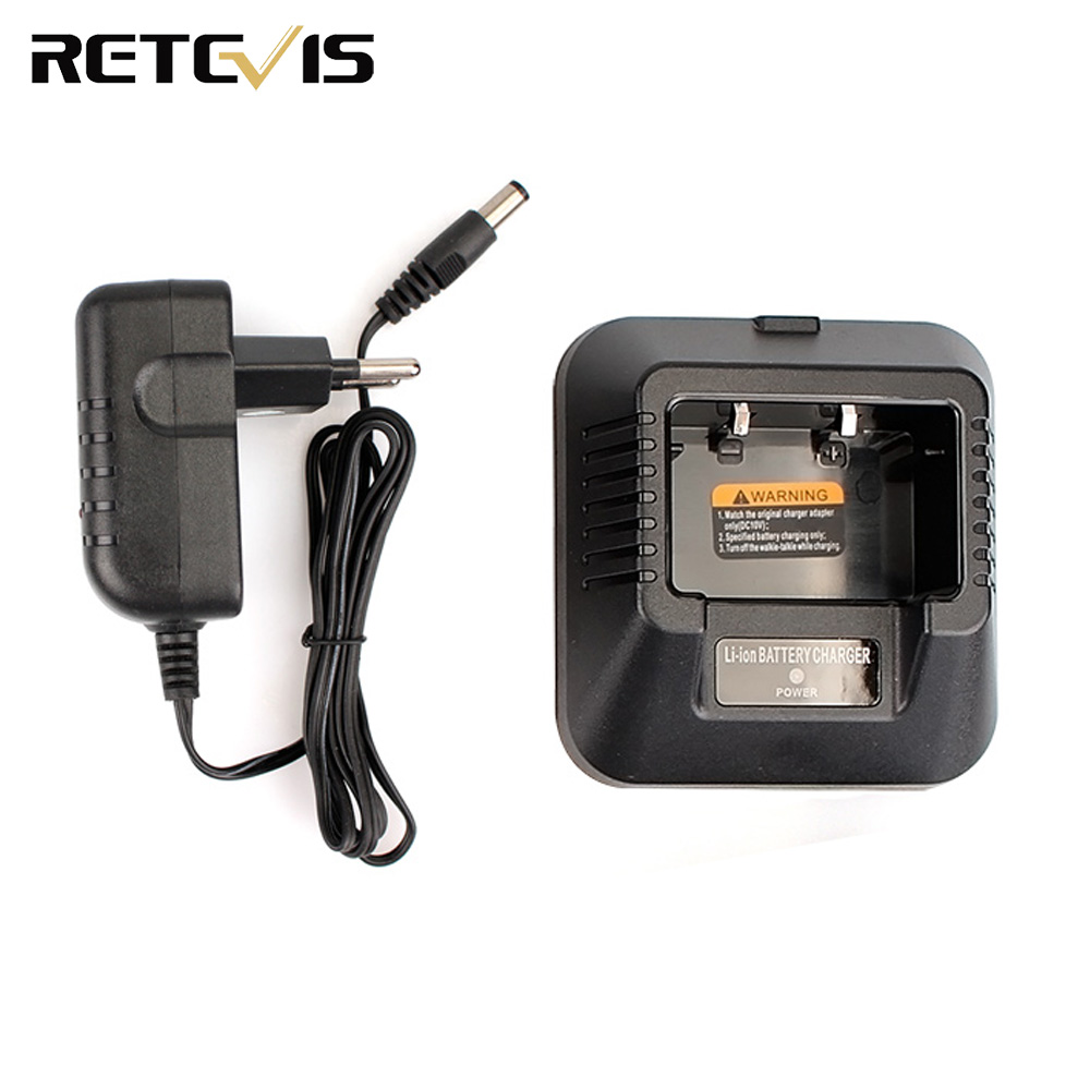 Li-ion Radio Battery Charger 100V-240V For Retevis RT5R/5RV Baofeng UV-5R/UV-5RV Walkie Talkie J7105C