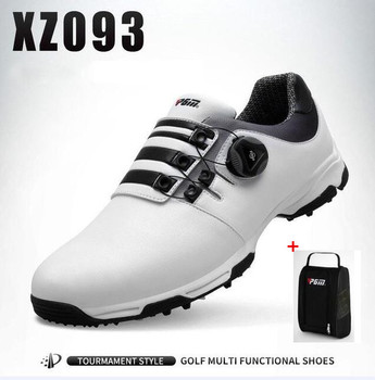 PGM Men Outdoor Sports Golf Shoes Male Golf Anti-skid Waterproof Breathable Rotating shoelaces Golf Sneakers With shoes bags