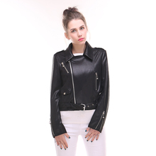 new spring Self-cultivation Coat Women's clothing Leather Suede High end long Punk wind fashion collar metal zipper Red wine