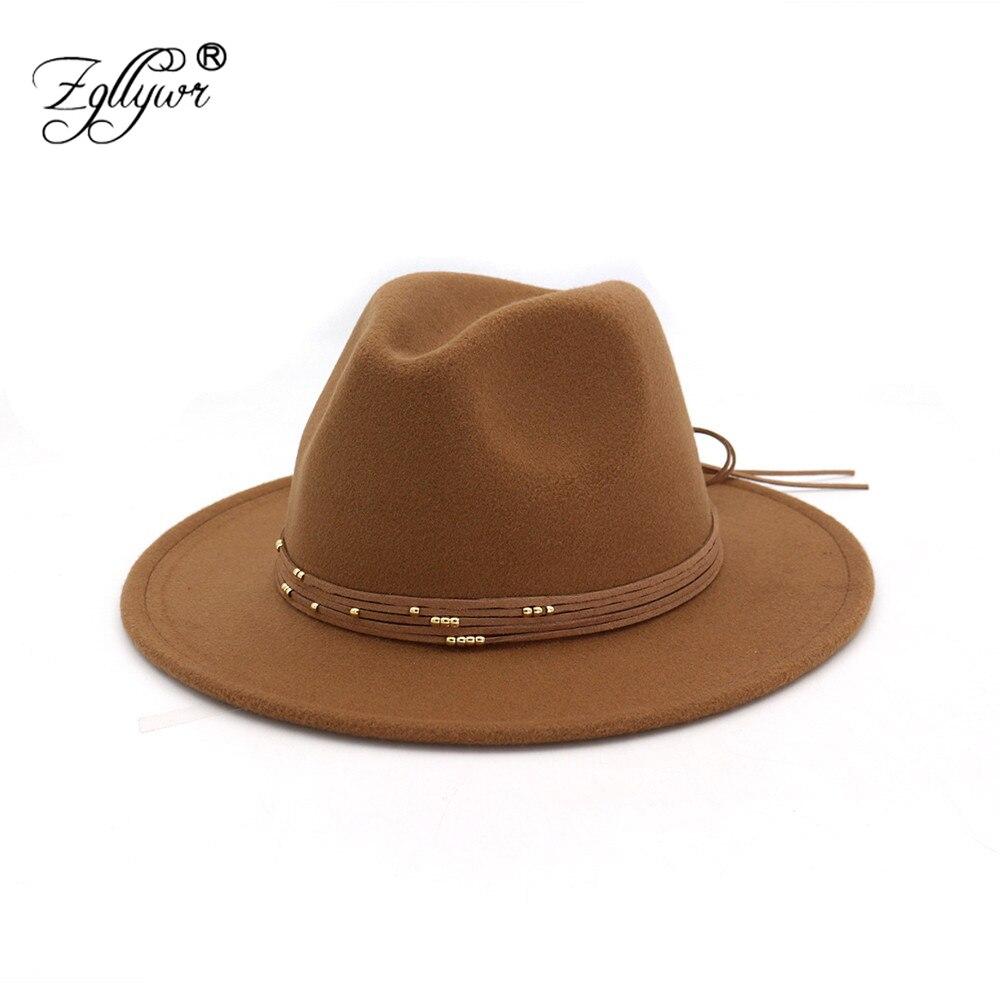Zgllywr Fedoras sombrero para mujer Vintage invierno otoño algodón Bowler  amplio Brim Vintage Chapeau Floppy elegante El Padrino Top sombrero en  Sombreros ... bbd468a0ad0