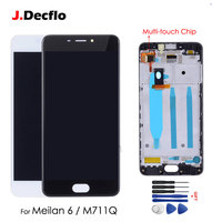 Original 5.2''LCD Display For MEIZU M6 LCD Touch Screen Digitizer Assembly with Frame for Meilan 6 M711Q Replacement Black White