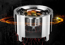 Rover Camel Portable Stainless Steel Camping Stove Outdoor Wood Stove Furnace Lightweight BBQ Picnic Stove