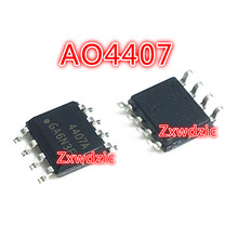 10PCS AO4407 SOP8 AO4407A  AO4407AL SOP-8 New original IC 10pcs tda2822m sop8 tda2822 sop smd new and original ic free shipping