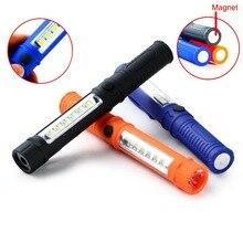 Multifunction Portable PVC 250LM LED Work Light Clip Pen Flashlight LED Lamp W/Magnetic 3 Brightness Mode Inspection Lamp Hiking