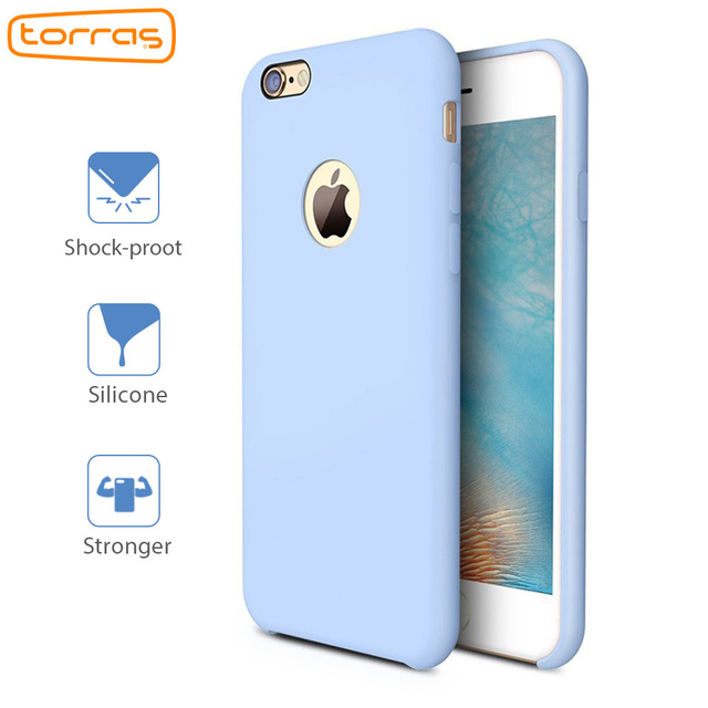 d7e63fb3b61 Funda de silicona líquida TORRAS para iPhone 6 6 s Plus 7 7 Plus funda de