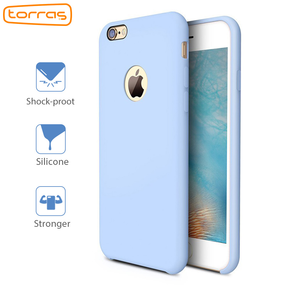 TORRAS Liquid Silicone Case for iPhone 6 6s Plus 7 7 Plus Phone Case Shock-proof Cover for Apple Microfiber Luxury Phone Cases
