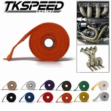 1.5mm*50mm*5m Exhaust Heat Wrap Downpipe Engine Bay Exhaust Shields Motorcycle Exhaust Pipe Wrap + 4 Stainless Steel Ties