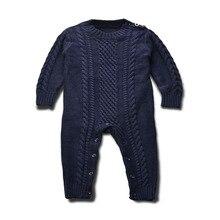 Ребенок шерсть шерстяные хлопка комбинезон Ползунки восхождение одежды младенца для 9 М-2 Т