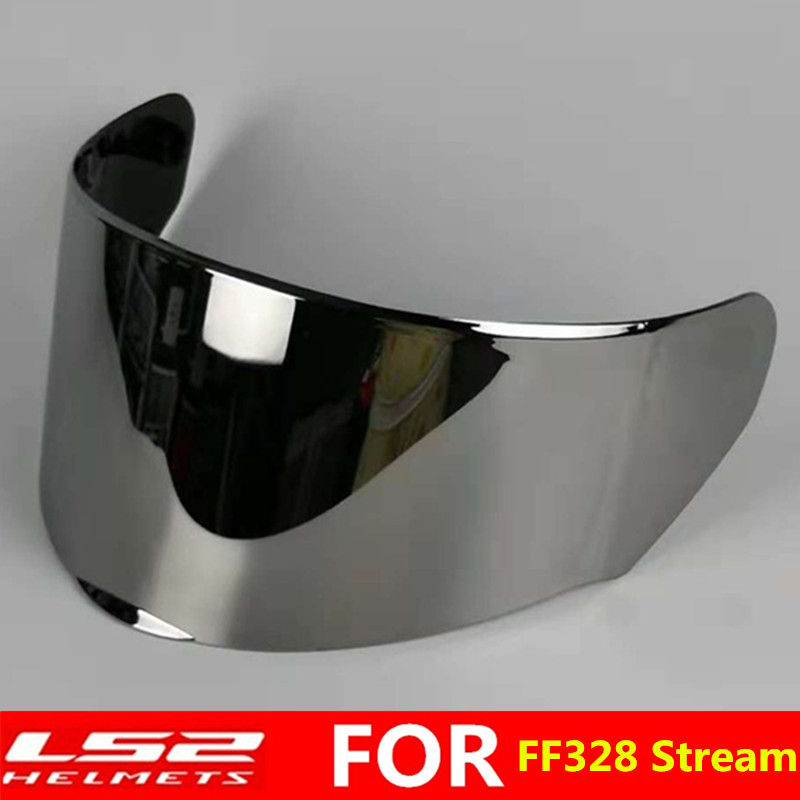 Chrome Silver LS2 FF352 FF351 FF384 Helmet Visor Full Face Motorcycle Helmet Replacement Face Shield Lens