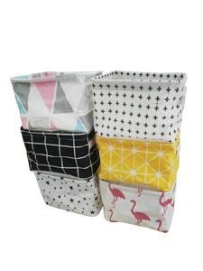 Organizer Cotton Basket Underwear Storage-Bag Cabinet Linen Printing Waterproof Cute