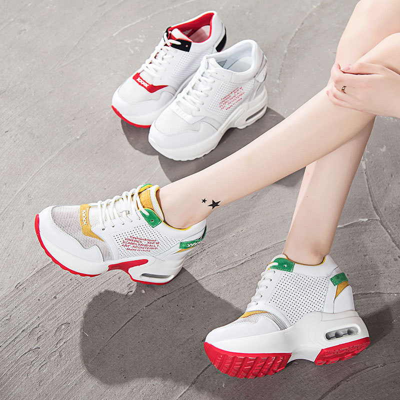 Women Mesh Shoes Running femme Breathable Mesh Non-slip wearable Sole Sneakers Outdoor Walking Shose 2018 Summer New
