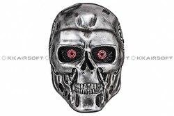 Masque de fête Terminator T-800 Paintball Airsoft masque facial en treillis métallique (argent) bd8870