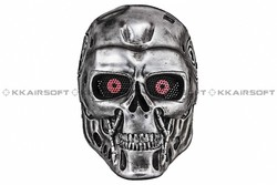 Terminator, máscara de fiesta T-800 de Paintball, máscara facial completa de malla de alambre Airsoft (Plata) bd8870