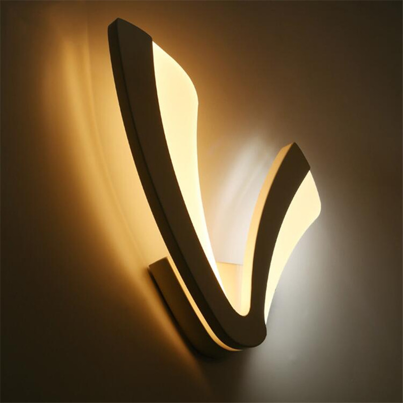 L71-Modern Acrylic Sconce LED Wall Lamp 85-260V Home Lighting 12W Wall Light for Indoor Aisle Bathroom Bedroom Bar Luminaire ascelina led mirror front lamp modern wall led lamps modern bathroom light wall sconce indoor wall lighting 14w 16w 20w 85 260v