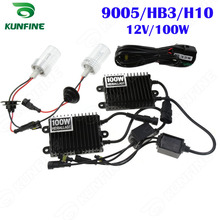 12V/100W Xenon Headlight 9005/HB3/H10 HID Conversion xenon Kit Car HID light with AC ballast For Vehicle Headlight