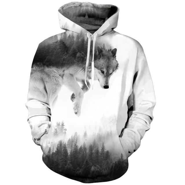 7cec63ba4321 Canis Lupus Arctos Wolf Hoodies 3d Print Animal Wolf Men's Hoody Sweatshirt  Alisister Hip Hop Unisex Pullover With Big Pockets