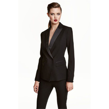 Womens Business Work Pant Suits Set Blazer Formal Slim OL Elegant Double Breasted Female Office Uniform Evening 2 Piece Set
