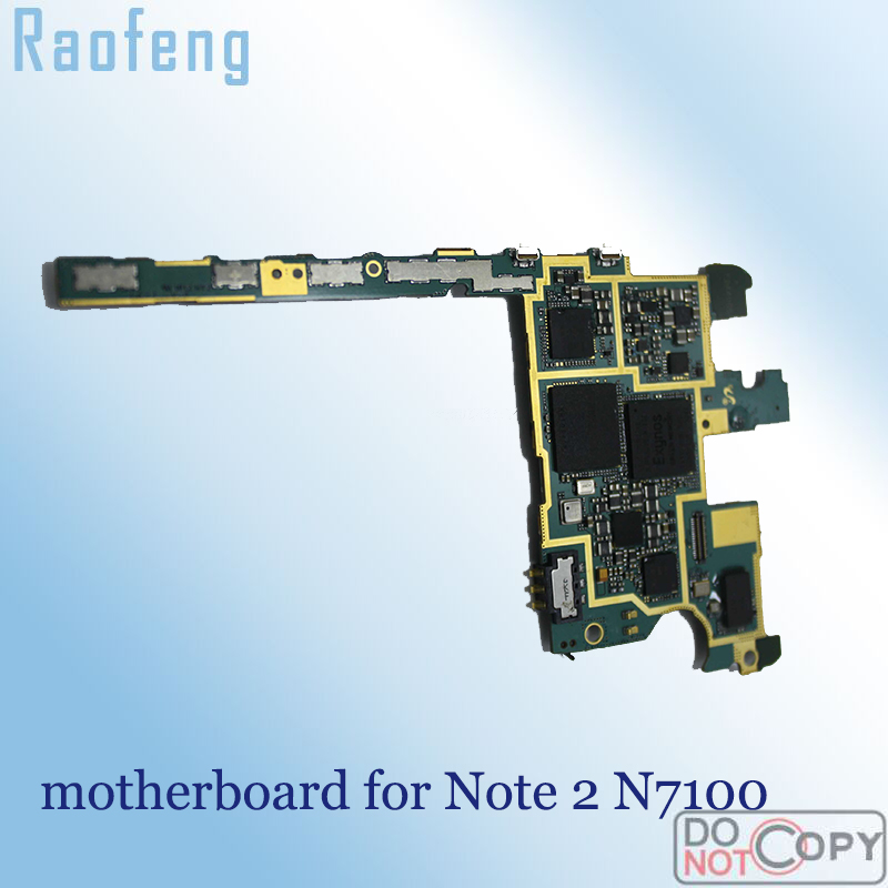 Raofeng Well worked For Samsung Galaxy Note 2 N7100 Motherboard Unlocked mainboard