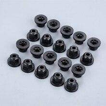 20Pcs Car Plastic Body Nut Flange Clips 10mm Hex Fastener Rivets For Mercedes Benz 7 Series 003 990 02 51 BMW 16 13 1 176 747