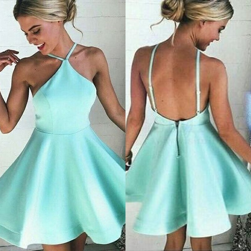 Light Blue Cocktail Prom Dress