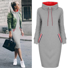 Plus Size S-3XL Autumn Winter Women Sexy Pencil Dress Long sleeve Casual party dress robe femme Sweatshirt vestidos