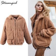 Bruine Teddy Jas.Coat Women Brown Promotion Shop For Promotional Coat Women Brown On