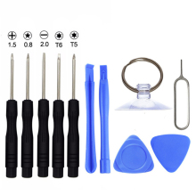 11Pcs Slotted 2.0 PH000 Torx T5 T6 Pentalobe 0.8 Screw Driver Opening Pry Tool Kit for Apple iPhone Tablet Repair