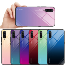 Case for Xiaomi Mi 9/ 9 Gradient Tempered Glass Mi9/ Mi9 hard Anti-fall Cover 6.39