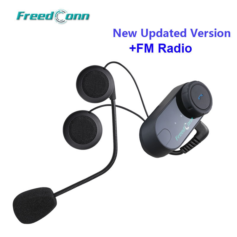 Free Shipping Original FreedConn Motorcycle Motorbike BT Bluetooth Multi Interphone Headset Helmet Intercom with FM Radio
