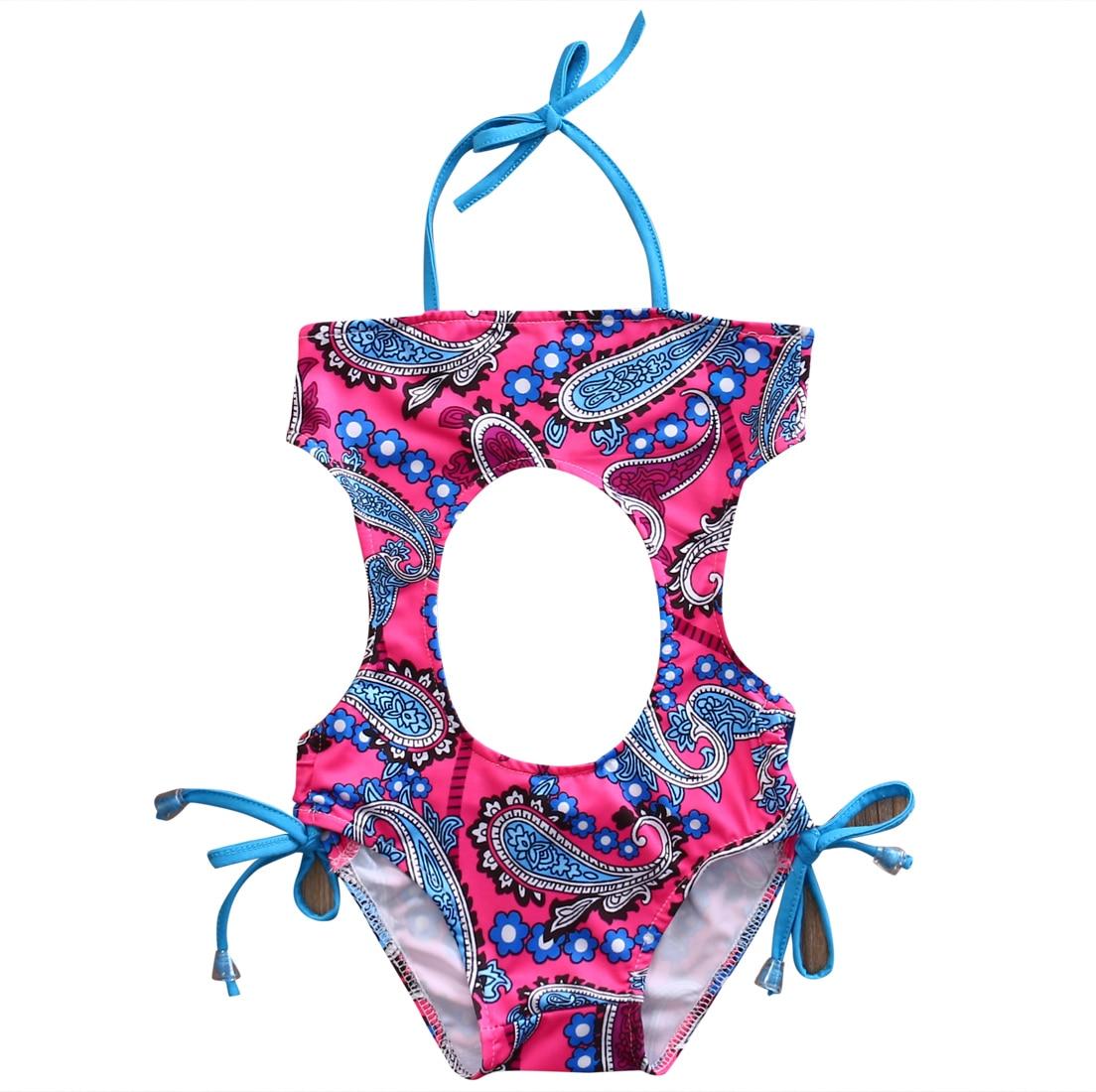 Hi Hi Baby Store Hi Hi Baby Store Baby Toddler Infant Kid Grils Bohemia Style Floral Print sleeveless Bikini  Bodysuits Swimsuit