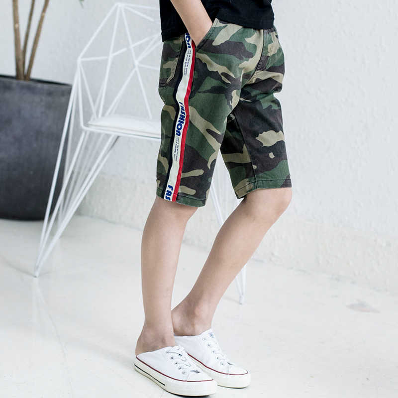 18621feac970 ... Boys Camouflage Shorts Summer Cotton Trousers Kids Army Cool Pants  Children Slim Sport Camo Short Sweatpants ...