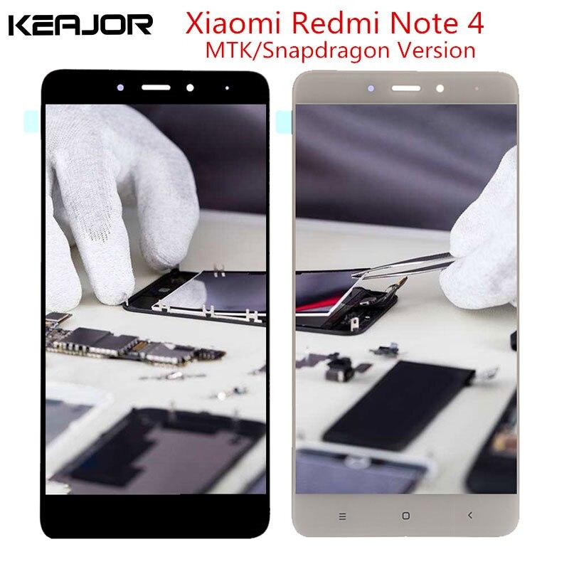 Para Xiaomi Redmi Nota 4 pantalla LCD Redmi Nota 4 Pantalla Global probado pantalla táctil para Redmi Nota 4 Helio x20/versión Global