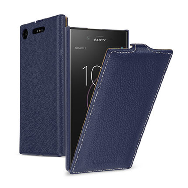 2018 New Business Up Down Flip Case For Sony Xperia XZ1 Compact 4 6 Case Genuine